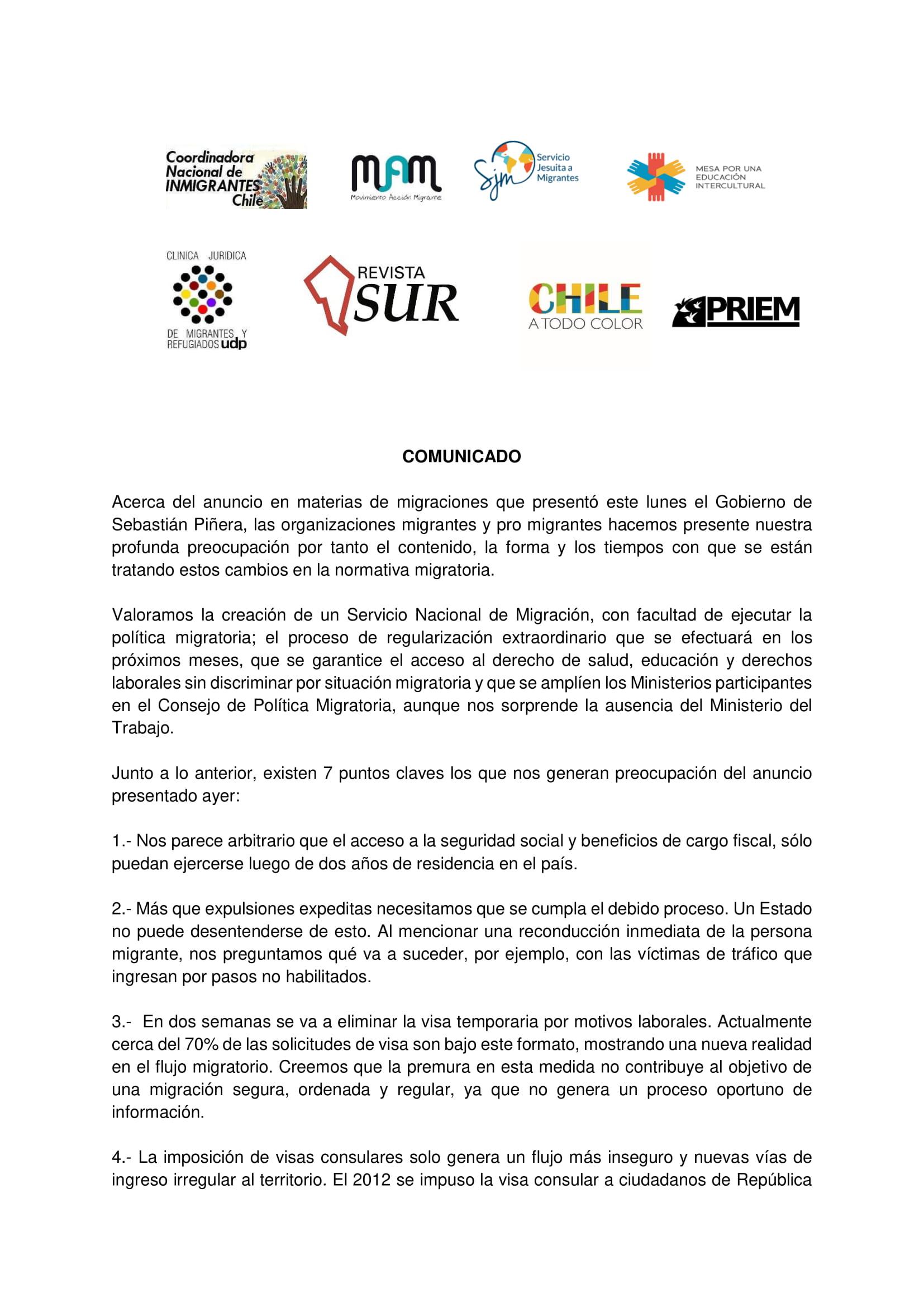 1 Comunicado Organizaciones Migrantes 10-04-2018-1